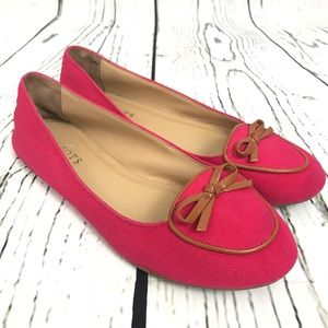 Talbots pink flats slip on loafer shoe coral 7.5